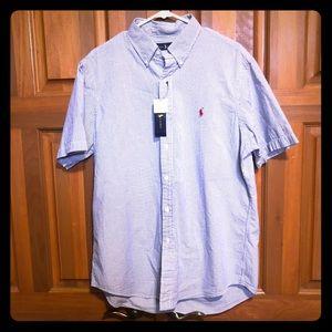 NWT Ralph Lauren Classic Short Sleeve Button Down
